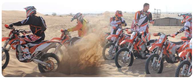 ktm bike tour dubai, ktm bike adventure dubai, ktm bike rental dubai, Desert KTM Motorbike Motocross Tours